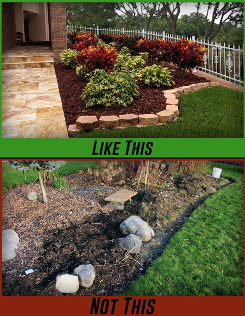 Landscaping With Mulch Mavroff Inc